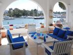 lovely sunny terrace