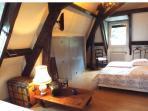 La chambre de la suite Hortensias
