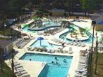 Lazy river area at resort