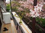 Washing machine on the balcony.
