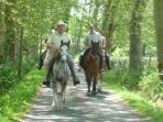 Horse Riding.  Le Breuil 3 kms.  Riders must be competent in all gaits