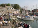 PADSTOW  --    Lovely harbour,    quaint narrow streets and shops,  restaurants etc.