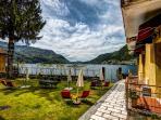 Garden entry view of Lake Como Beach Resort