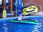 KAYAKS IN THE POOL  ---  great fun !!    --    New activity for 2015