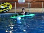 FREE ACTIVITIES IN THE POOL  ----   children love the kayaks !