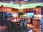 Imagine cooking in this beautiful gourmet kitchen. We supply all cookware for your conveinience.