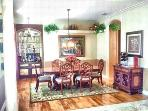 Lovely dining room that will seat 6 comfortably.