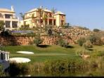 Villas overlooking the La Resina Golf course