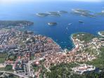 Island Hvar, town Hvar (an hour by catamaran)