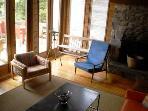 The living room at the Frances Louis House in Port Joli Nova Scotia