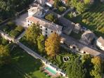 Villa Aureli from the sky. Adolfo's House is on the right