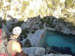 Calanque D'Envau in Cassis  a climbers paradise