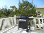 Gas grill, back deck off kitchen