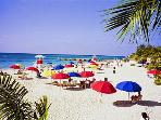 Doctors Cave beach along Hip Strip is located just 8 minutes drive from Paradise Palms Jamaica Villa