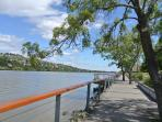 The lovely walk along the river at Royal Park will take you to Seaport (approx. 1.5km)