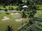 The Pearl Championship golf Course aerial view. Fifth tee is 200 meters from the house