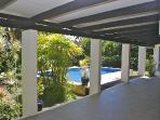 Large spacious 12' covered deck