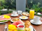 Tropical breakfast at no extra cost