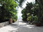 Vista giardino e distanza dal mare
