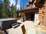 Deck with Private Hot Tub, Gas Fireplace and Outdoor Seating