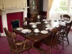 The separate dining room over looking the garden.
