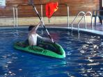 NEW ACTIVITIES FOR 2016  ---  Kayaks  in the pool -- great fun for the children !