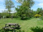 Large Lawned garden with Swings at L'Ecurie
