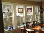 Sunny windows in Dining Area