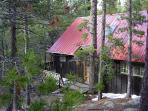 Cabin front door
