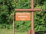 Sargeant Bay Provincal Park, with an amazing swimming beach, only a short walk from Terrace Suite