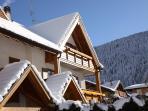 Casa Bellavista facciata verso il lago in inverno