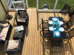 Dining and lounge area on the deck