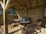 ... or in our Champagne shed, next to the boules court