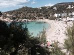 Cala Vadella Beach 5 minute walk away