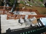From 2nd story Master Suite Deck up stairs on 2nd Story River below