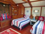 1st floor bedroom off living room with 2 twins - 51 Eliphamets Lane Chatham (Captains House) Cape Cod New England...
