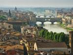 Florence is a quick 1.20 drive or train trip from the Villa.