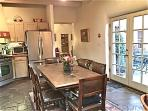 large french doors and double skylights - lots of natural lights