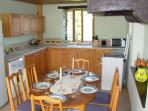 Well equipped dining kitchen