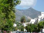 The view of the breath taking mountain, this gives Marbella its micro climate.