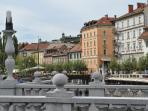 Ljubljana - Triple Bridge view