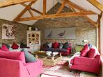 Enjoy the squashy sofas whilst waiting for dinner in the Old Mill