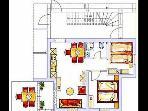 A1(4+3): floor plan
