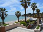 Dine overlooking the sea at the beautiful Santa Eulalia beach