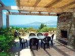 The terrace with a magnificent view of the Golfe d'Ajaccio