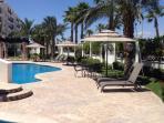 Poolside furniture post Hurricane Odile
