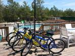 4 bikes are provided for use by Little Gray Cottage guests.