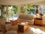 Light and airy sunroom/2nd TV area