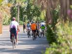 activité sportives, ballade en vélo, parcours, golf de Saint Tropez