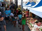 Stroll down to the Farmer's Market - every Wednesday - for some local goodies.